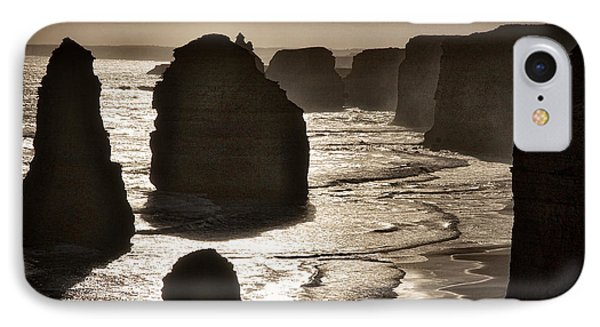 Twelve Apostles #3 - Black And White IPhone Case