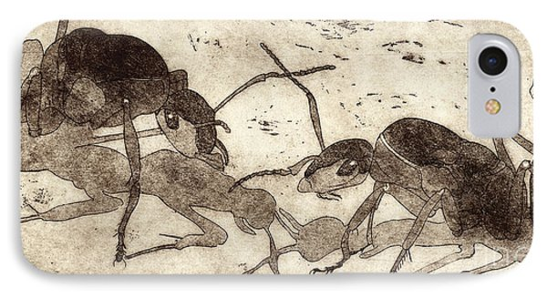 Two Ants In Communication - Etching IPhone Case
