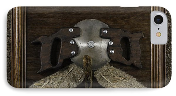 Two Handled Saw Blade IPhone Case