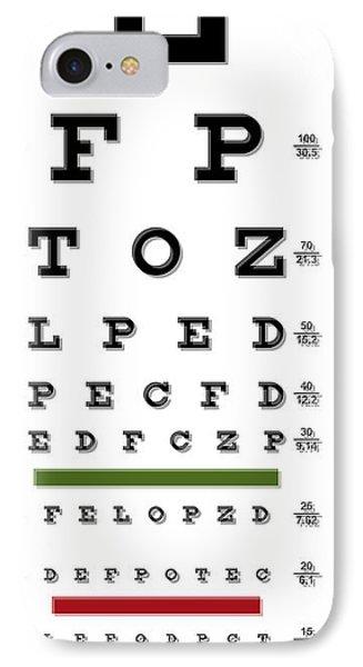 Eye Chart Iphone 8 Cases Fine Art America