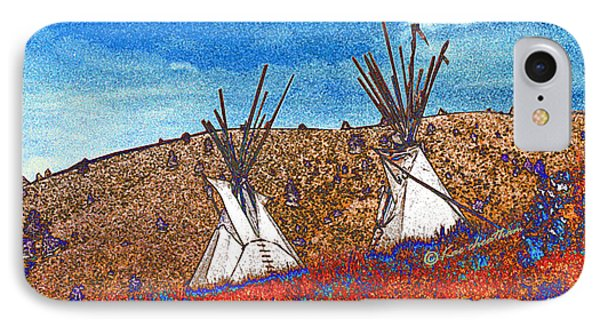 Two Teepees IPhone Case