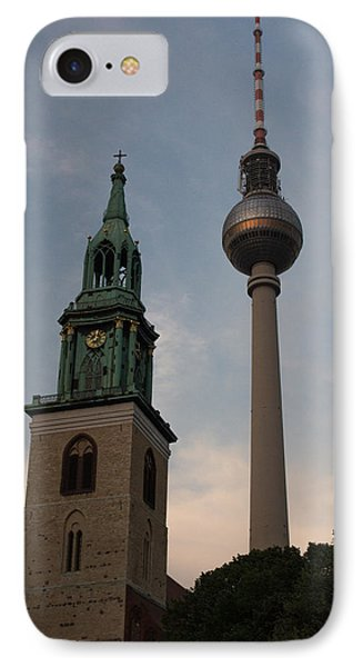 Two Towers In Berlin IPhone Case