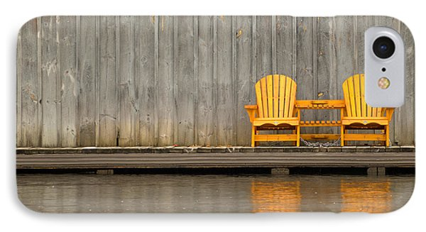 Two Wooden Chairs On An Old Dock IPhone Case