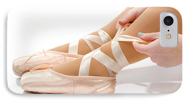 Tying Ballet Slippers IPhone Case
