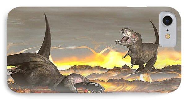 Tyrannosaurus Rex Dinosaurs Dying IPhone Case