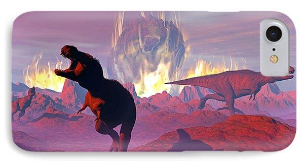 Tyrannosaurus Rex Dinosaurs Escaping IPhone Case