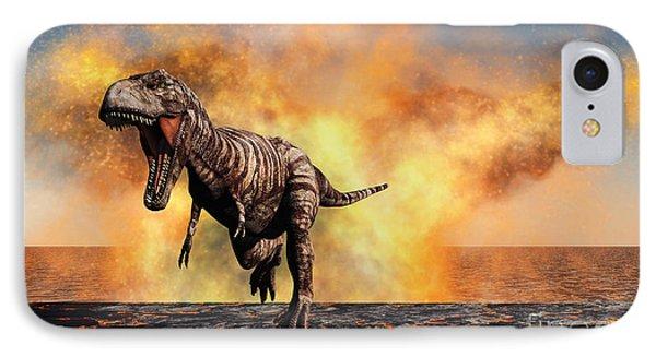 Tyrannosaurus Rex Escaping IPhone Case
