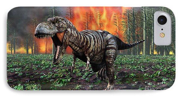 Tyrannosaurus Rex Fleeing From A Deadly IPhone Case