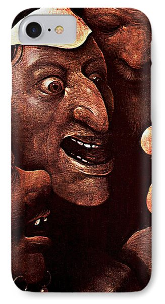 IPhone Case featuring the digital art Ugly Faces by Hieronymus Bosch
