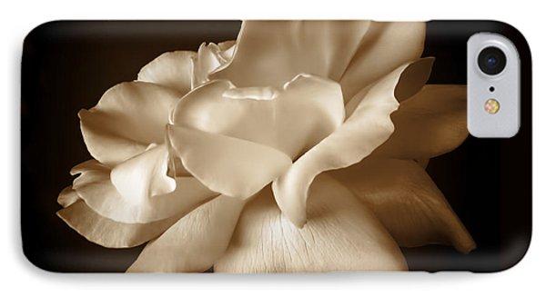 Umber Rose Floral Petals IPhone Case
