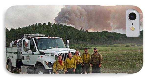 Umpqua Engine 25 On Myrtle Fire IPhone Case