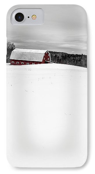 Under A Blanket Of Snow Christmas On The Farm IPhone Case