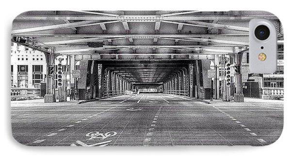 Chicago Wells Street Bridge Photo IPhone Case