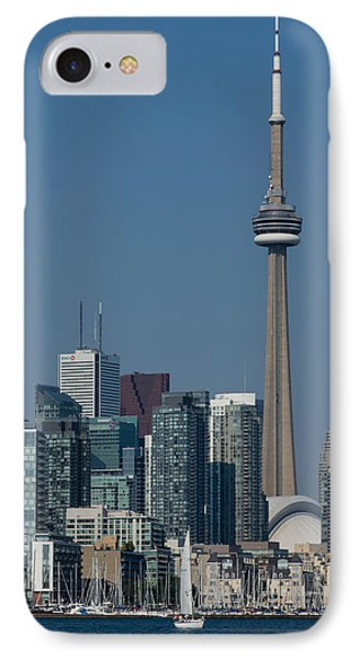 Up Close And Personal - Cn Tower Toronto Harbor And Skyline From A Boat IPhone Case