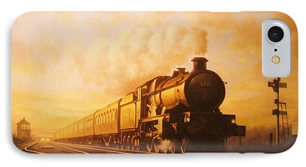 Train iPhone 8 Case - Up Express To Paddington by Mike Jeffries