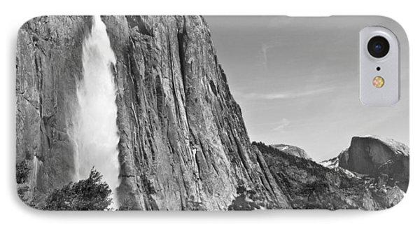 Upper Yosemite Fall With Half Dome IPhone Case