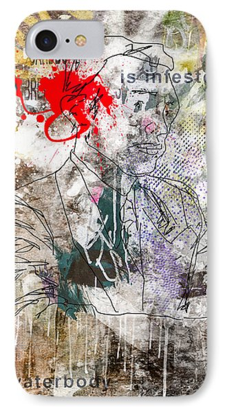 Male Suit Portrait Grunge Urban Collage  IPhone Case