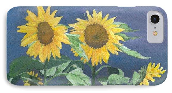 Urban Sunflowers Original Colorful Painting Sunflower Art Decor Sun Flower Artist K Joann Russell    IPhone Case