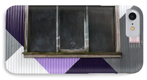 Orchid iPhone 8 Case - Urban Window- Photography by Linda Woods