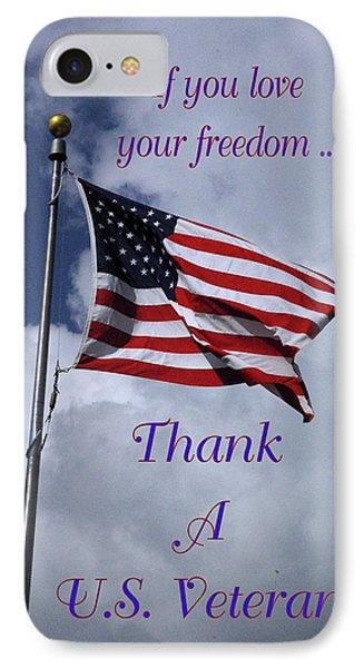 Us Flag Thank A Vet IPhone Case