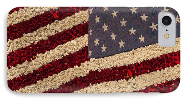 Usa Flag Of Flowers IPhone Case