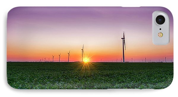 Usa, Indiana Soybean Field And Wind IPhone Case