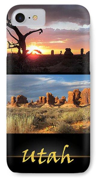 Utah Poster IPhone Case
