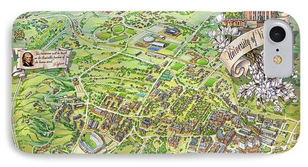 Campus Map Iphone 8 Cases Fine Art America