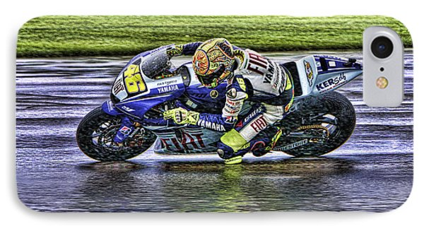Valentino Rossi At Indy IPhone Case