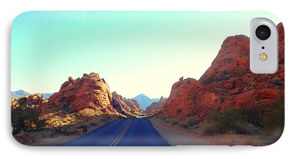 Valley Of Fire Drive IPhone Case