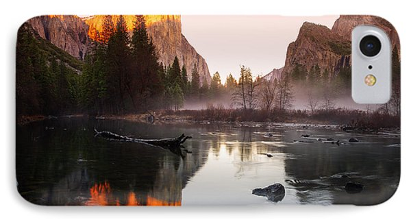 Valley View Winter Sunset Yosemite National Park IPhone Case