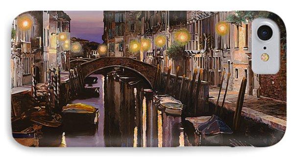 Boat iPhone 8 Case - Venezia Al Crepuscolo by Guido Borelli
