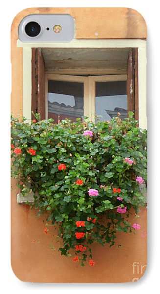 Venice Shutters Flowers Orange Wall IPhone Case