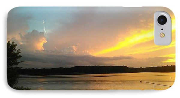 Vespers On Lithia Springs Beach At Sunset IPhone Case