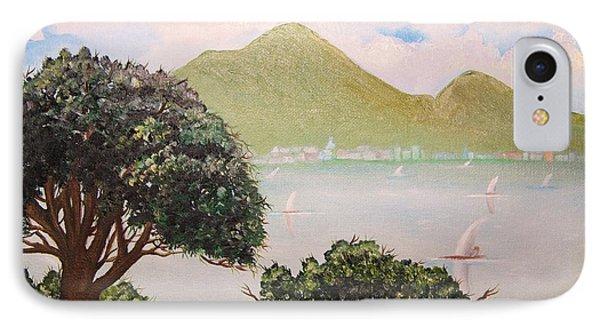 Vesuvius And Umbrella Pine Tree II IPhone Case