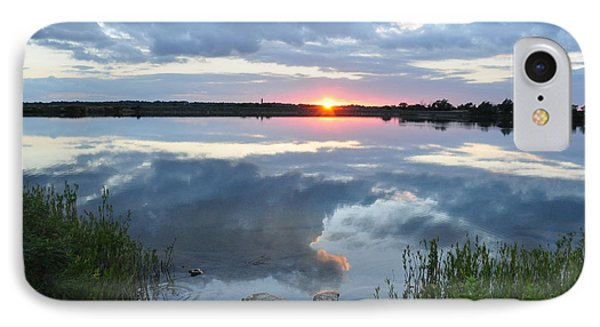 Veterans Lake Sunset IPhone Case