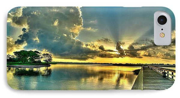 Veterans Pier Sunrise IPhone Case