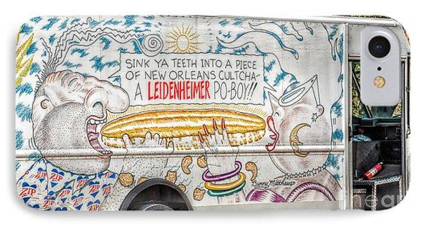 Vic And Nat'ly And The Leidenheimer Po-boy Truck - New Orleans IPhone Case