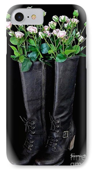 Victorian Black Boots IPhone Case