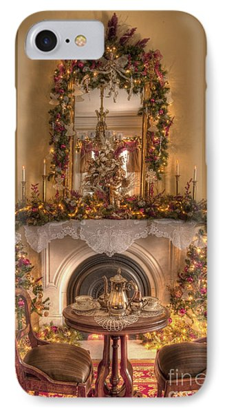 Victorian Christmas By The Fire IPhone Case