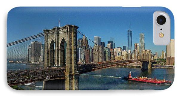 View Of Brooklyn Bridge, New York City IPhone Case