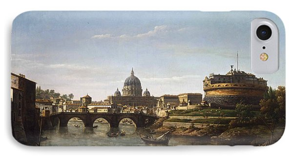 View Of Rome From The Tiber IPhone Case