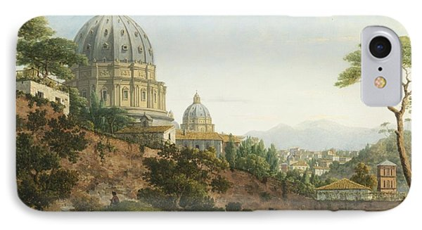 View Of Saint Peter's Rome IPhone Case