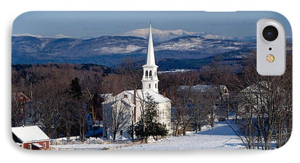 View Of Small Town In Winter, Peacham IPhone Case
