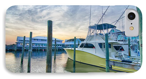 View Of Sportfishing Boats At Marina IPhone Case