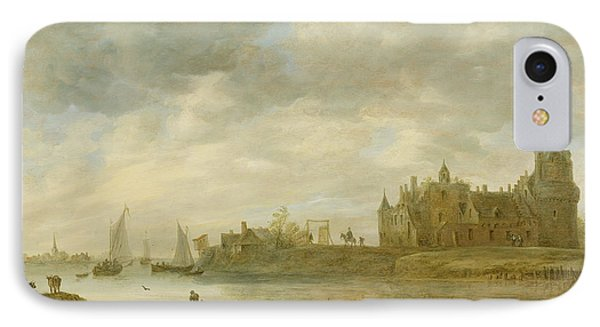 Castle iPhone 8 Case - View Of The Castle Of Wijk At Duurstede by Jan van Goyen