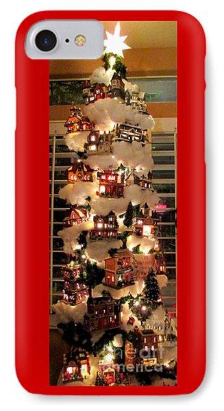 Village Christmas Tree IPhone Case