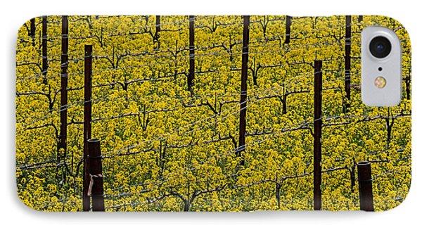 Mustard iPhone 8 Case - Vineyards Full Of Mustard Grass by Garry Gay