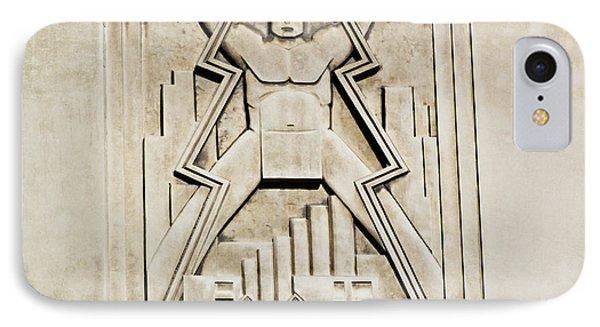 Vintage Art Deco Muscular Man   IPhone Case