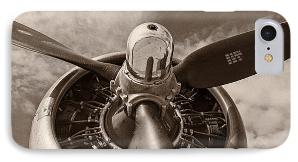 Airplane iPhone 8 Case - Vintage B-17 by Adam Romanowicz